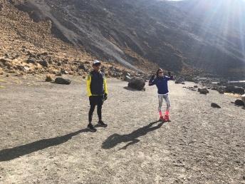 Con mi carnalito en el Nevado de Toluca.