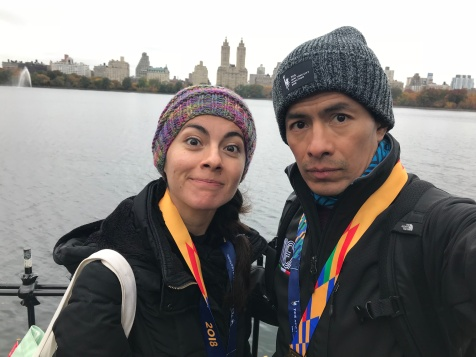 Un día después, regresamos a Central Park a recordar y darle la vuelta en bici con todo y medallas
